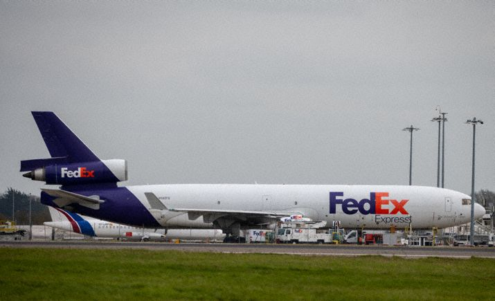 Incident: Fedex MD11 at London on Mar 25th 2021, engine trouble