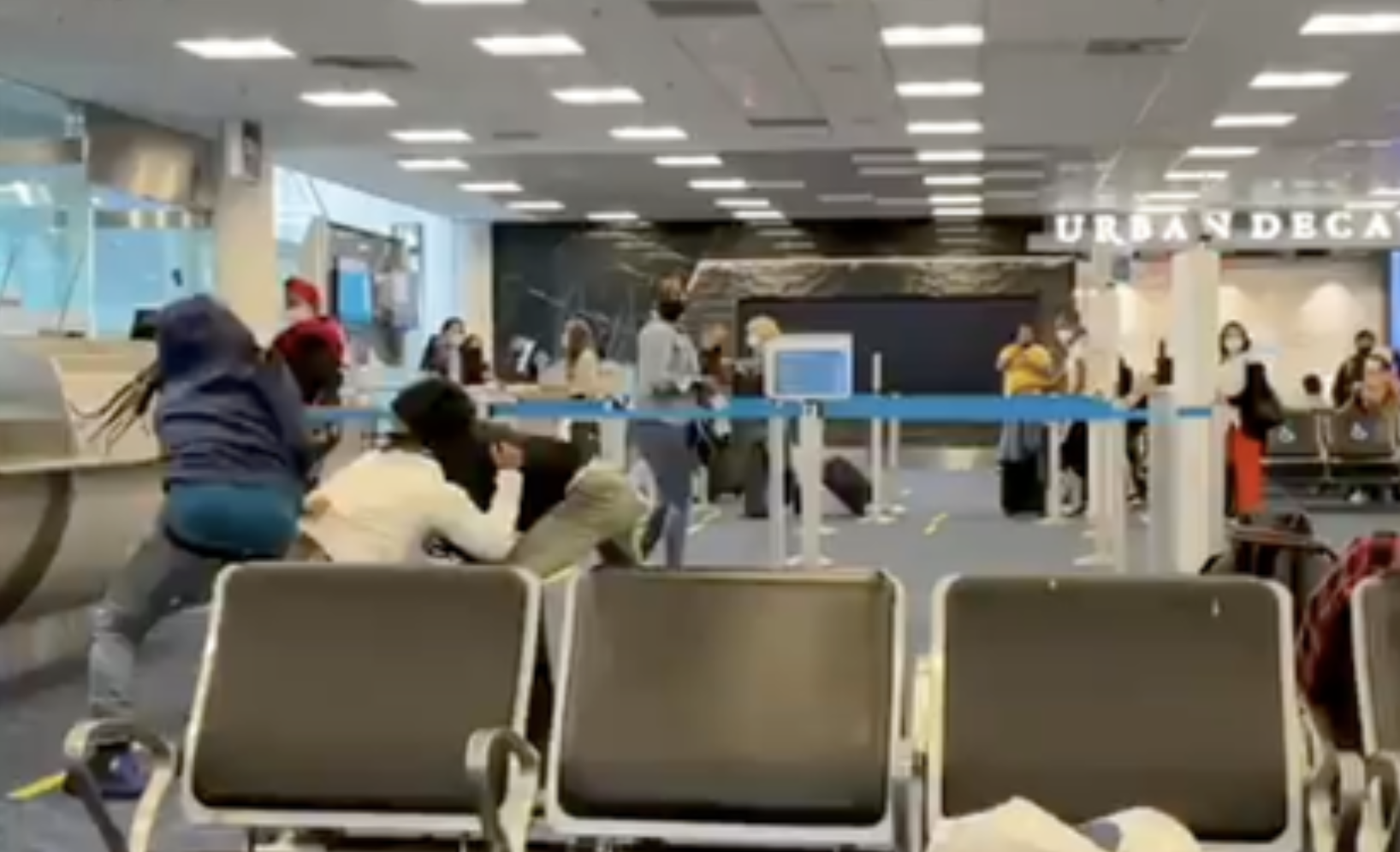 Incident: Fist fights break out at Miami International Airport gate D14