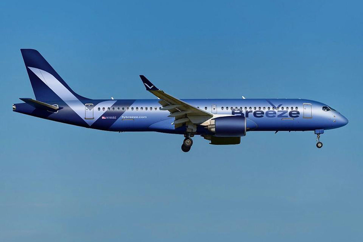 Breeze Airways confirms order for 20 additional A220s